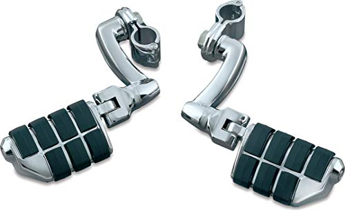 Kuryakyn 7980 Motorcycle Foot Controls: Longhorn Offset Dually Highway Pegs with Magnum Quick Clamps for 1