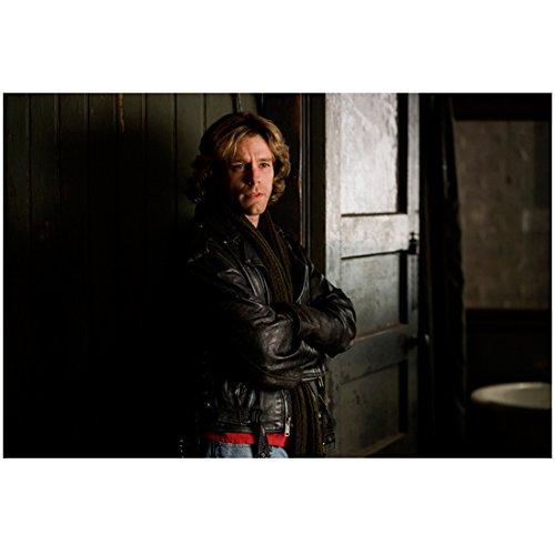 Rent (2005) 8 x 10 Photo Adam Pascal Black Leather Jacket Arms Crossed Leaning Agains Wall kn ()