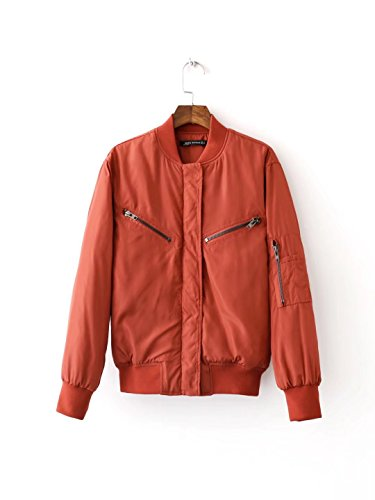 Lsm-Jacket Women's Regular Short Down Jacket Thickened Loose Cotton Coat Red