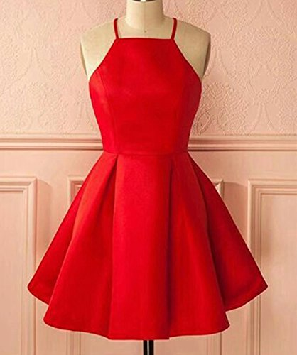 New Sposa 2018 Simple Halter Sleeveless Pleated A-line Short Homecoming Formal Dress at Amazon Womens Clothing store: