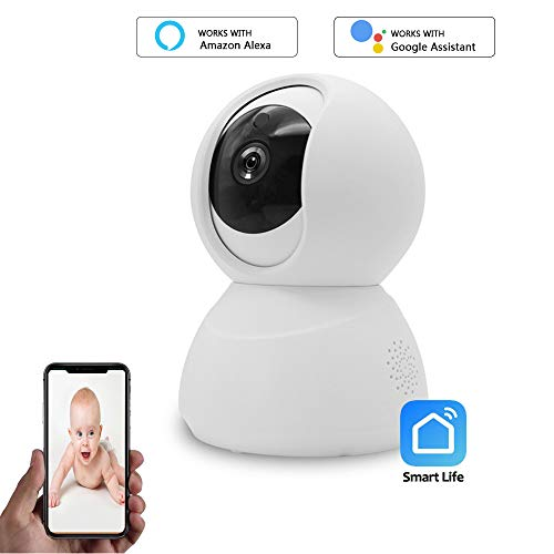 WiFi Security Camera, 1080P Wireless Surveillance Camera for Baby/Elder/Pet with HD Night Vision/Motion Tracking/Two Way Audio, Remote Monitor with iOS and Android