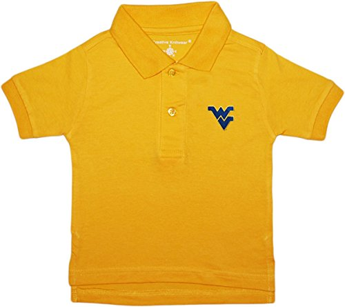 Creative Knitwear University Of West Virginia Cavaliers Polo Shirt,Gold,2T by Creative Knitwear