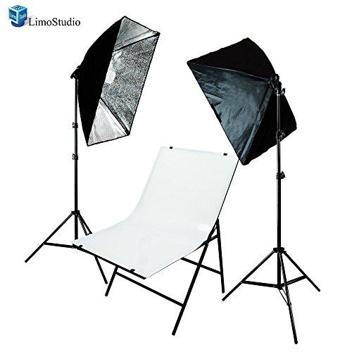 LimoStudio Photography Photo Studio Foldable Shooting Table Background with 2 pcs Softbox Lighting Set, AGG1629 by LimoStudio