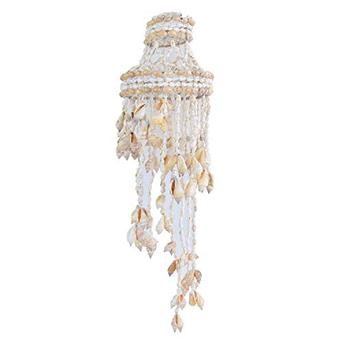 SuperJpsor Natural Seashell Wind Chime,Sea Shell Hand-Made Wind Bell,Sea Shells Decorations,Suitable for Outdoor Or Indoor,Home Garden Perfect Decoration. (Natural Color)