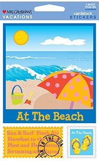 At the Beach Cardstock Scrapbook Stickers (31357)