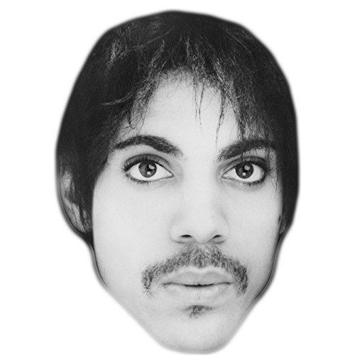 Prince Mask - Prince (Black and White) Celebrity Mask, Card Face and Fancy Dress Mask