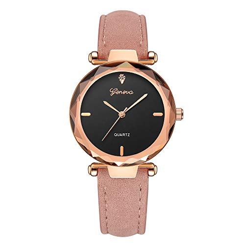 SFE Fashion Women 's Leather Band Analog Quartz Diamond Wrist Watch Watches