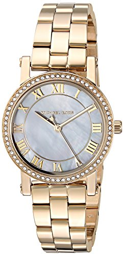 Michael Kors Women's Quartz Stainless Steel Casual Watch, Color:Gold-Toned (Model: MK3682) (Gold Pearl Watch)