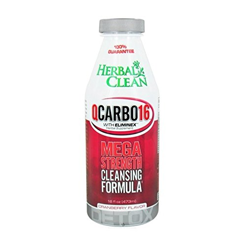 (Herbal Clean Detox Qcarbo with Eliminex Mega Strength 16 Fl Oz Cranberry. Best Detox Guarenteed!!! With BB Trade Mark Sticker)