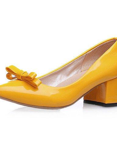 los de de de o mujeres las las de uk8 charol ZQ 5 de tac¨®n us10 boda as la zapatos cu 5 cn40 eu42 cn43 eu39 uk6 oto de 5 eu42 yellow 5 primavera bowknotblack us8 ocasional us10 5 verano talones yellow yellow xaZYwvxq