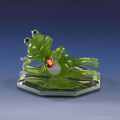 Mini Accents Frog - Handmade Blown Mini Glass Romeo Frog