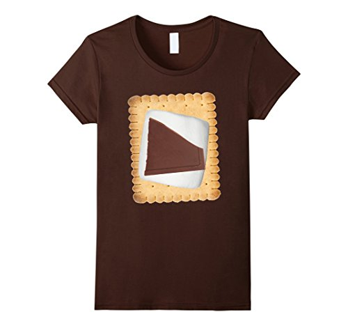 Smores Family Costume (Womens S'mores Halloween Costume Shirt XL Brown)