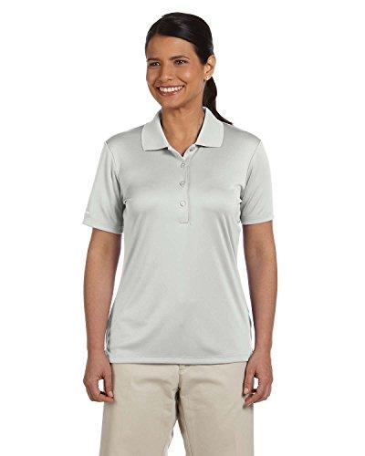 (Ashworth 3050 Ladies Performance Interlock Solid Golf Shirt Light Grey)