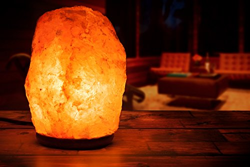 HemingWeigh Natural Himalayan Rock Salt Lamp 7-13 lbs with Wood Base, Electric Wire & Bulb by HemingWeigh (Image #5)
