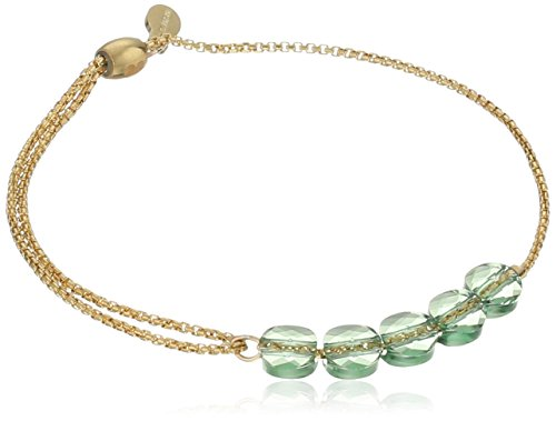Alex and Ani Crystal Infusion Pull Sprout, 14k Chain Bracelet