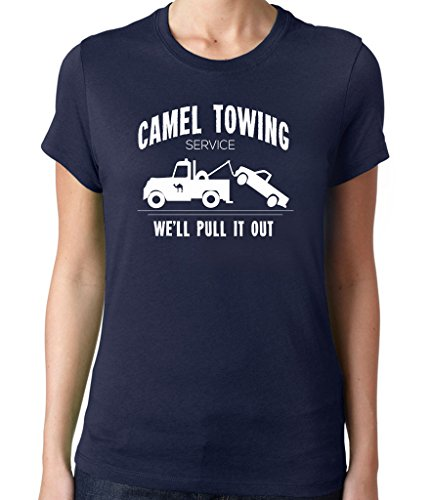 Women's camel towing company T-Shirt Unisex XXLarge Navy Blue
