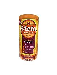 Metamucil Multi-Health Fiber by Meta, Orange Coarse Sugar Powder 72 Tablespoons 29 Ounce