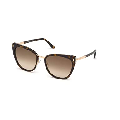 Amazon.com: Tom Ford FT0717 Havana/Brown Lens Sunglasses ...