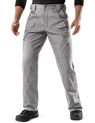 CQR Men's Tactical Pants Lightweight EDC Assault Cargo, Duratex Mag Pocket(tlp107) - Stone, 32W/30L