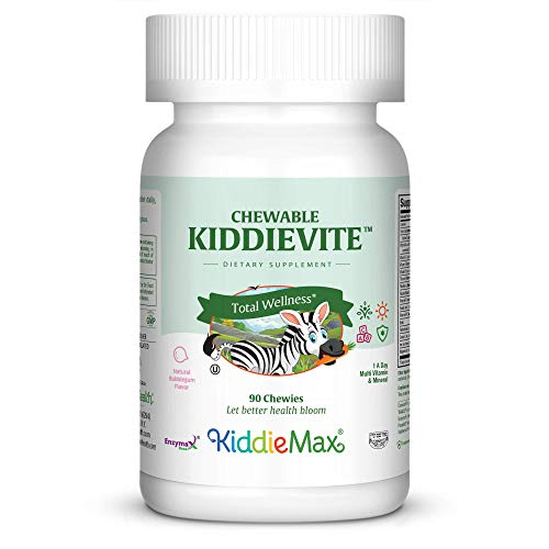 Maxi Health Chewable KiddieVite - Multivitamins & Minerals - Bubble Gum Flavor - 90 Chewies - Kosher ()