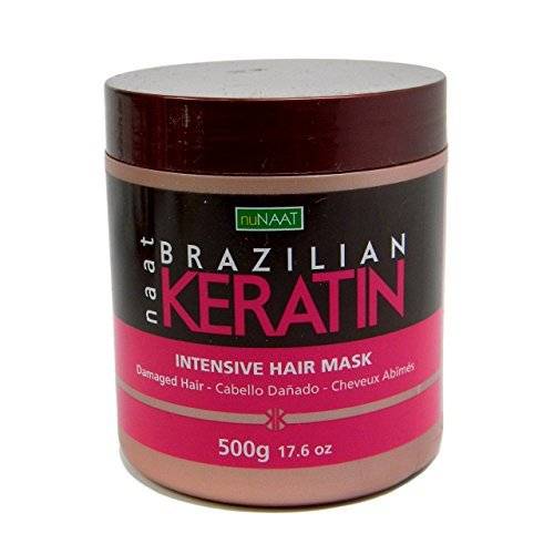 Nunaat Naat Brazilian Keratin Intensive Hair Mask, 17.6 oz (500g)