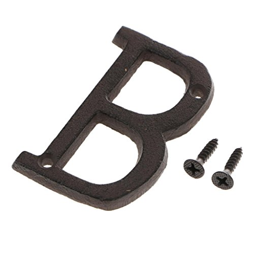 LOVIVER Large Iron Letter DIY Door Plate Letter Sign - Make Your Own Sign, Gift, Art - B