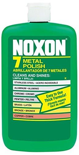 12 Ounce Liquid (Noxon 7 Liquid Metal Polish, 12 fl oz Bottle for Brass, Copper, Stainless, Chrome, Aluminum, Pewter & Bronze)