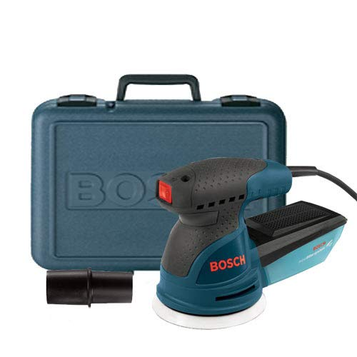 Bosch ROS20VSK Palm Sander - 2.5 Amp 5 in. Corded Variable Speed Random Orbital Sander/Polisher Kit with Dust Collector...
