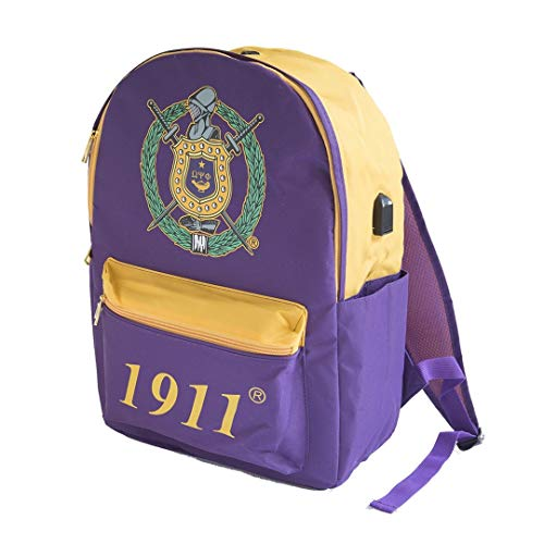 Omega Psi Phi USB Port Backpack