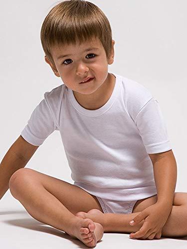 RAPIFE Camiseta Interior Manga Corta niño 100% Algodon Talla 6