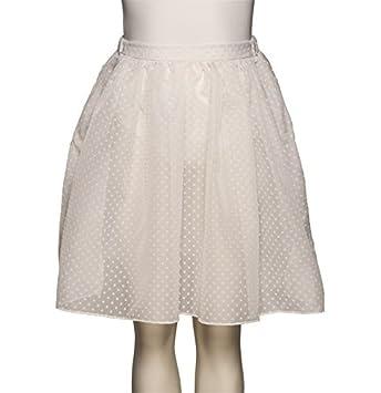 5506c1607 Girls White KDVS RAD Voile Spotty Basic Dance Ballet Skirt All Sizes ...