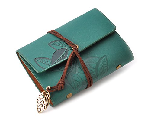 - Ace Select Business Card Holder PU Leather Credit Card Case Wallet Mini Photo Albums, 20 Pockets - Green