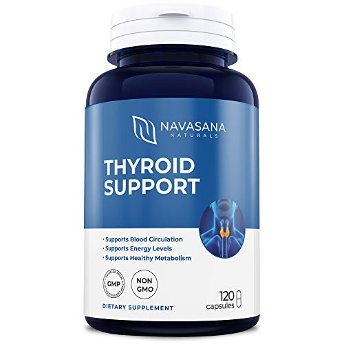 Thyroid Support Supplement with Iodine: Helps Energy, Metabolism & Focus: Non-GMO 120 Capsules Soy and Gluten Free - Vitamin B12 Complex, Zinc, Selenium, Copper, Ashwagandha