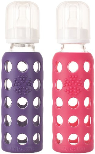 Lifefactory Baby Bundle - Bottle Set - Raspberry/Purple - 9