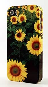 Field Of Healthy Sunflowers Dimensional Case Fits iPhone 4 or iPhone 4s