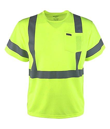 Apparel Buffalo (Buffalo Outdoors Men's Hi Vis Reflective Safety Pocket T Shirt High Visibility , 3XL)