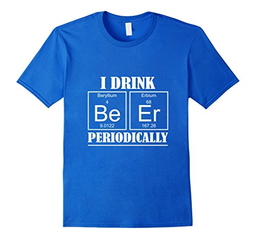 German Beerfest Costume (Mens Beer Periodic Table T Shirt Oktoberfest 2017 Beerfest Party Large Royal Blue)