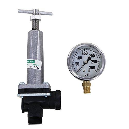 TeeJet 8460-3/4 Pressure Regulator with 300 PSI Pressure Gauge (Bundle, 2 Items)