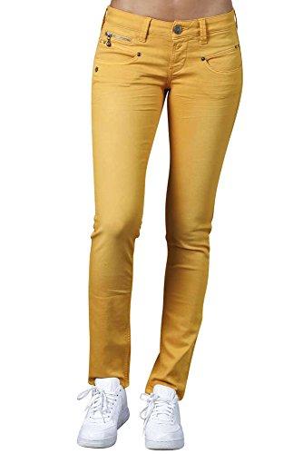 Freeman T Porter - Jeans - Slim - Femme Jaune Sunflower