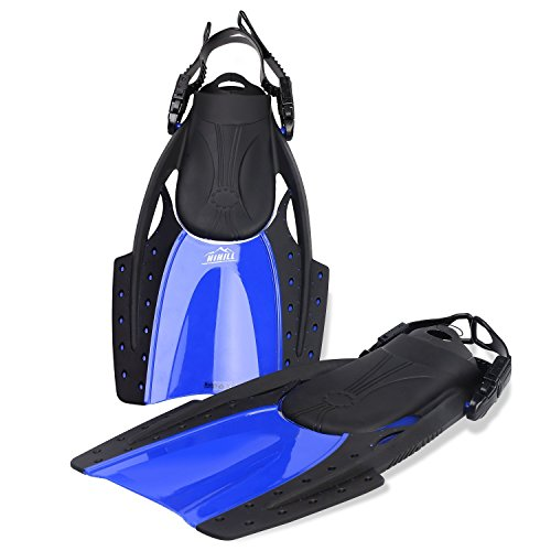 Swimming Flippers Diving Fins (Blue L) - 9
