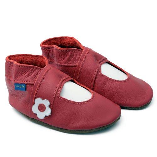 Inch Blue - 1077 M - Chaussures Bébé Ouvertes Souples - Mary Jane - Rouge - T 19-20 cm