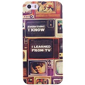 JOEOld TV Set Design PC Hard Case for iPhone 5/5S