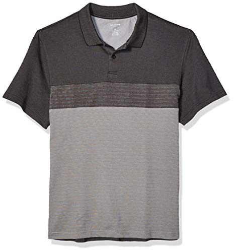 - Van Heusen Men's Flex Short Sleeve Stretch Colorblock Polo Shirt, Turbulence, Large