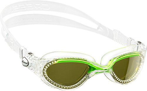 Adult Swim Goggles with Curved Shatterproof Colored Lens | Flash Made in Italy by Cressi: Quality Since 1946
