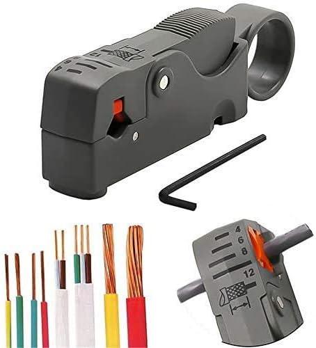 Cortador De Cable Universal Giratorio Coaxial Pelacables Cortador Pelacables Kit De Crimpadora Ajustable Para Plano/redondo Rg58/59/62/6/3C2V/4C/5C
