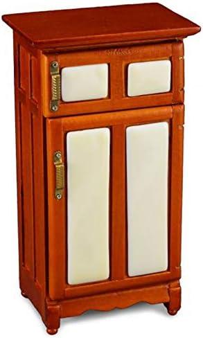 OLD FASHION OAK ICE BOX DOLL HOUSE FURNITURE MINIATURES