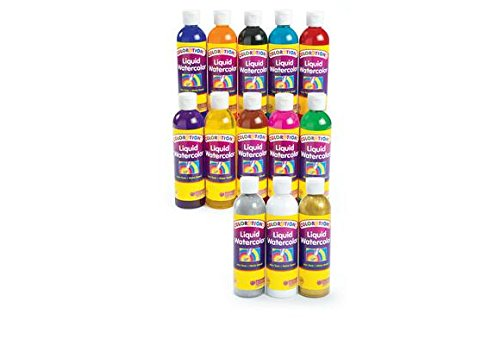 Colorations Liquid Watercolor - Colorations 13LW Classic Colors Liquid Watercolor Paint (Pack of 13)