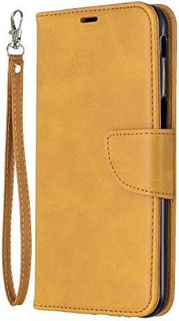 Galaxy J6 Plus 2018 ケース, OMATENTI PUレザー手帳型 ケース, 薄型 簡約風 人気 新品 財布 フリップカバー スマホケース, Galaxy J6 Plus 2018 用 Case Cover, マグネット開閉式 スタンド機能 カード収納 付き, 黄褐色