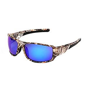 Polarized Camouflage Polarized Sports Sunglasses Unisex - Camo patterns Sun Glasses for Fishing Hunting Boating Driving Cycling Sun Glasses UV400 Shades outdoor sport