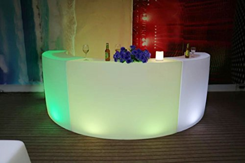 - IVER LED Plastic Lighting Furniture bar Counter Table Arched Desk Furniture Charging Color Light 3 Combinations